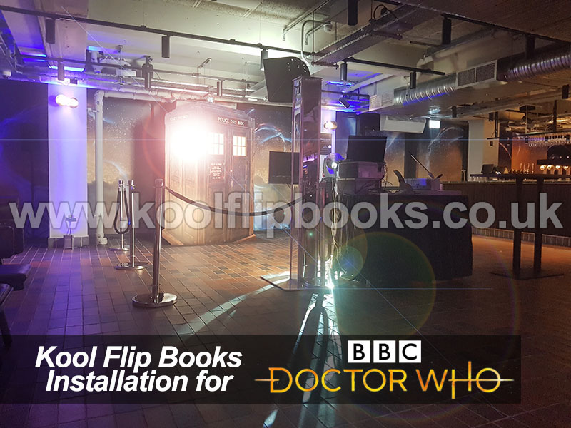 Flip Books Photo Booth installation for Dr Who