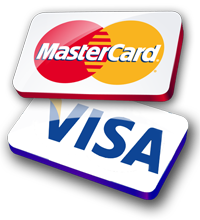 Mastercard and Visa accepted by Kool Bouncers